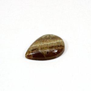 Natural Honey Aragonite 24x17mm Pear Cabochon 17.90 Cts Loose Gemstone