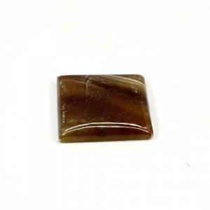Natural Honey Aragonite 26x24mm Rectangle Cabochon 39.45 Cts Loose Gemstone