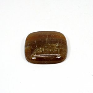 Natural Honey Aragonite 30x29mm Cushion Cabochon 55 Cts Loose Gemstone