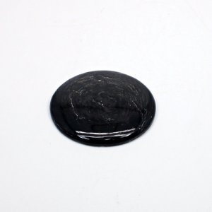 Natural Hypersthene 38mm Round Cabochon 74 Cts Loose Gemstone