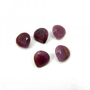 Natural Indian Ruby Gemstone 8x8mm Heart Faceted Cut 2.30 Cts