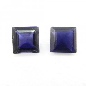 Natural Iolite 5x5mm Square Cut 0.6 Cts