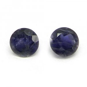 Natural Iolite 6mm Round Cut 0.7 Cts