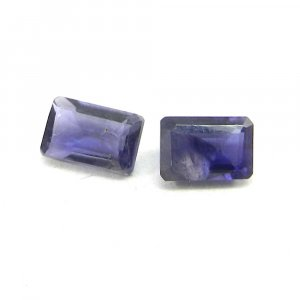 Natural Iolite 6x4mm Rectangle Cut 0.55 Cts
