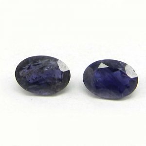 Natural Iolite 7x5mm Oval Cut 0.65 Cts