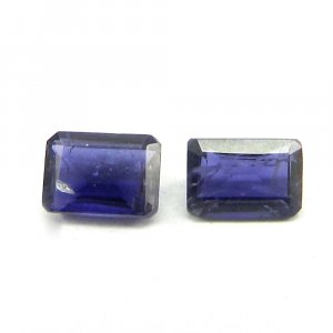 Natural Iolite 7x5mm Rectangle Cut 1.0 Cts