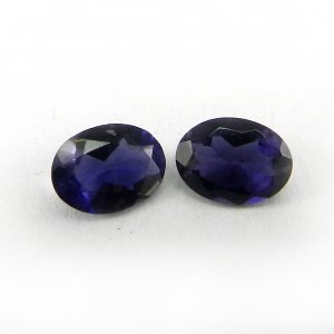 Natural Iolite 8x6mm Oval Cut 0.9 Cts