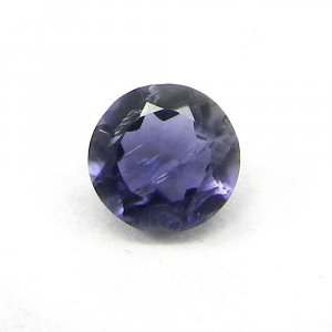 Natural Iolite 9x7mm Round Cut 0.9 Cts