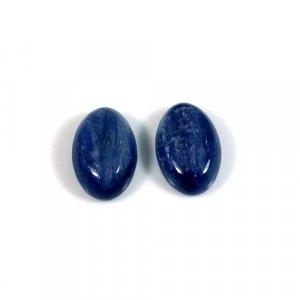 Natural Kyanite Gemstone 1 Pair Oval Cabochon 4.40 Cts 12x8mm Loose Gemstone