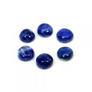 Natural Kyanite Round Cabochon 5x5mm 4.45 Cts 6 Pcs Lot Loose Gemstone