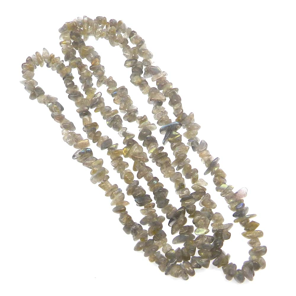Natural Labradorite 5-7mm Approx 36 Inch Length Chips Strand Beads