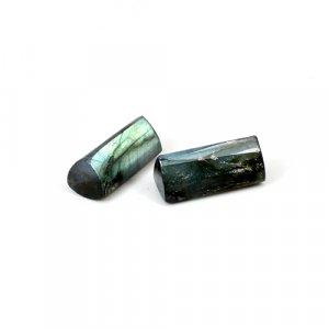 Natural Labradorite Pencil Shape Faceted Cut 1 Pair 21.95 Cts 18x8mm Loose Gemstone