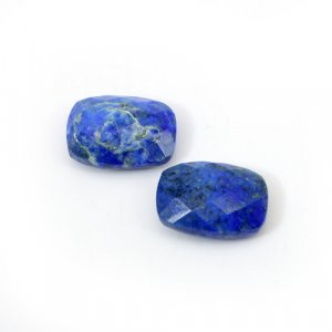 Natural Lapis Lazuli Cushion Briolette Cut 14x10mm 13.45 Cts 1 Pair Loose Gemstone