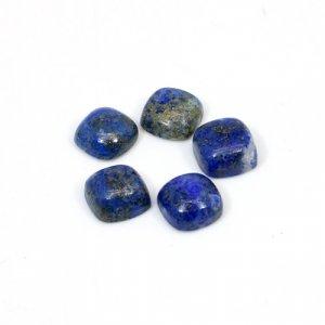 Natural Lapis Lazuli Cushion Cabochon 8x8mm 13.90 Cts 5 Pcs Lot  Loose Gemstone