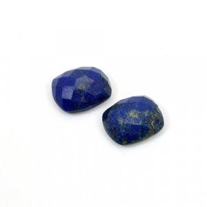 Natural Lapis Lazuli Cushion Checker Cut 12x10mm 10.10 Cts 1 Pair Loose Gemstone
