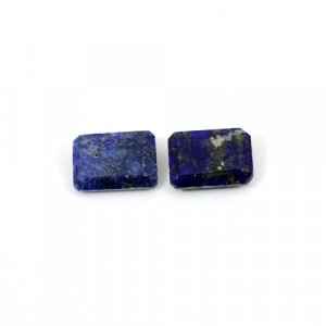 Natural Lapis Lazuli Octagon Cut 14x10mm 13.75 Cts 1 Pair Loose Gemstone
