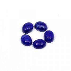 Natural Lapis Lazuli Oval Cabochon 9x7mm 10.1 Cts 5 Pcs Lot  Loose Gemstone