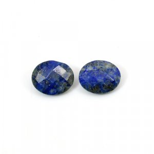 Natural Lapis Lazuli Oval Checker Cut 12x10mm 8.25 Cts 1 Pair  Loose Gemstone