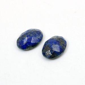 Natural Lapis Lazuli Oval Checker Cut 14x10mm 11.20 Cts 1 Pair Loose Gemstone