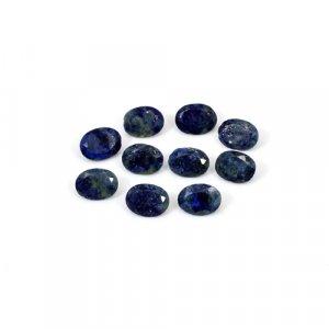 Natural Lapis Lazuli Oval Cut 10 Pcs Lot 7x5mm 7.75 Cts Loose Gemstone