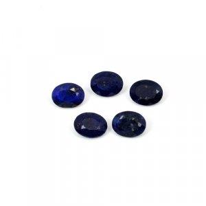 Natural Lapis Lazuli Oval Cut 5 Pcs Lot 7x9mm 9.75 Cts Loose Gemstone
