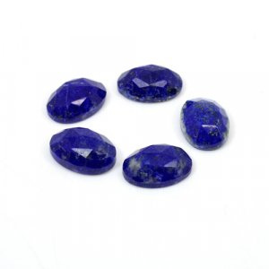 Natural Lapis Lazuli Oval Rose Cut 14x10mm 29 Cts 5 Pcs Lot  Loose Gemstone