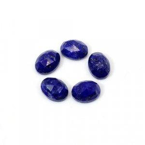 Natural Lapis Lazuli Oval Rose Cut 8x6mm 8 Cts 5 Pcs Lot Loose Gemstone