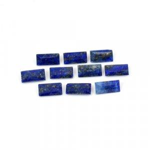 Natural Lapis Lazuli Rectangle Cut 20 Pcs Lot 8x4mm 16.85 Cts Loose Gemstone