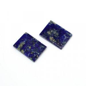 Natural Lapis Lazuli Rectangle Flat 16x12mm 11.15 Cts 1 Pair Loose Gemstone