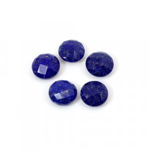 Natural Lapis Lazuli Round Briolette Cut 8mm 9.45 Cts 5 Pcs Lot  Loose Gemstone
