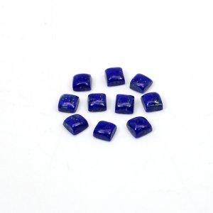 Natural Lapis Lazuli Square Cabochon 20 Pcs Lot 4mm 9.70 Cts Loose Gemstone