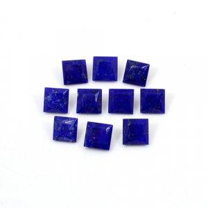 Natural Lapis Lazuli Square Cut 5 Pcs Lot 6x6mm 12.1 Cts Loose Gemstone
