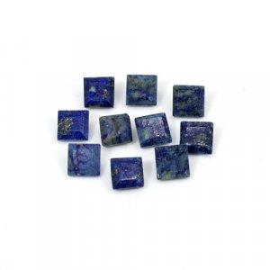 Natural Lapis Lazuli Square Cut 6x6mm 13.65 Cts 10 Pcs Lot Loose Gemstone