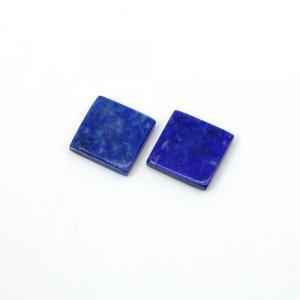 Natural Lapis Lazuli Square Flat 10mm 6.85 Cts 1 Pair  Loose Gemstone