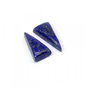 Natural Lapis Lazuli Triangle Cabochon 20x10mm 15.35 Cts 1 Pair Loose Gemstone