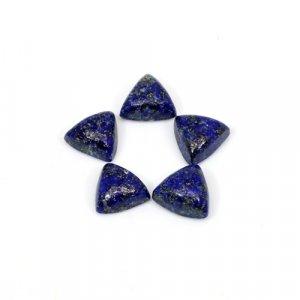 Natural Lapis Lazuli Trillion Cabochon 8x8mm 10.85 Cts 5 Pcs Lot Loose Gemstone