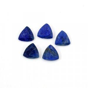 Natural Lapis Lazuli Trillion Cut 5 Pcs Lot 8x8mm 7.25 Cts Loose Gemstone