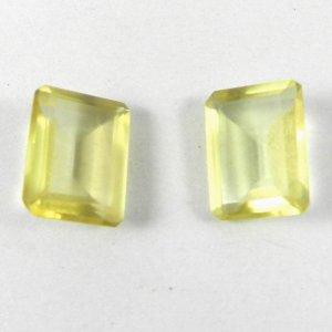Natural Lemon Quartz 15x11mm Octagon Cut 7.6 Cts