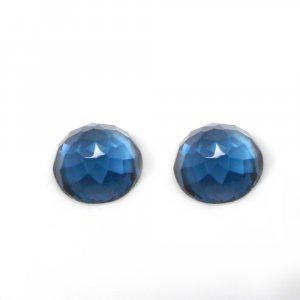 Natural London Blue Topaz 4mm Rose Cut Round Cabochon 0.40 cts