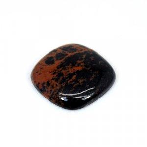 Natural Mahogany Obsidian Cushion Cabochon 21mm 15.75 Cts Loose Gemstone