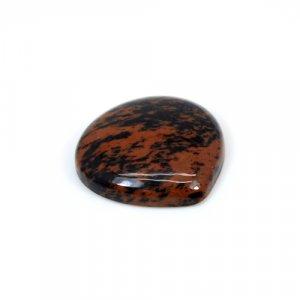 Natural Mahogany Obsidian Heart Cabochon 21mm 14.45 Cts Loose Gemstone