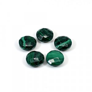 Natural Malachite 10x8mm Round Briolette Cut 25.35 Cts 5 Pcs Lot Loose Gemstone