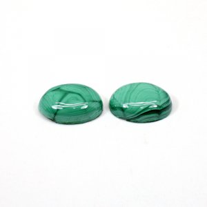 Natural Malachite 29.20 Cts Oval Cabochon 18x13mm 1 Pair Loose Gemstone