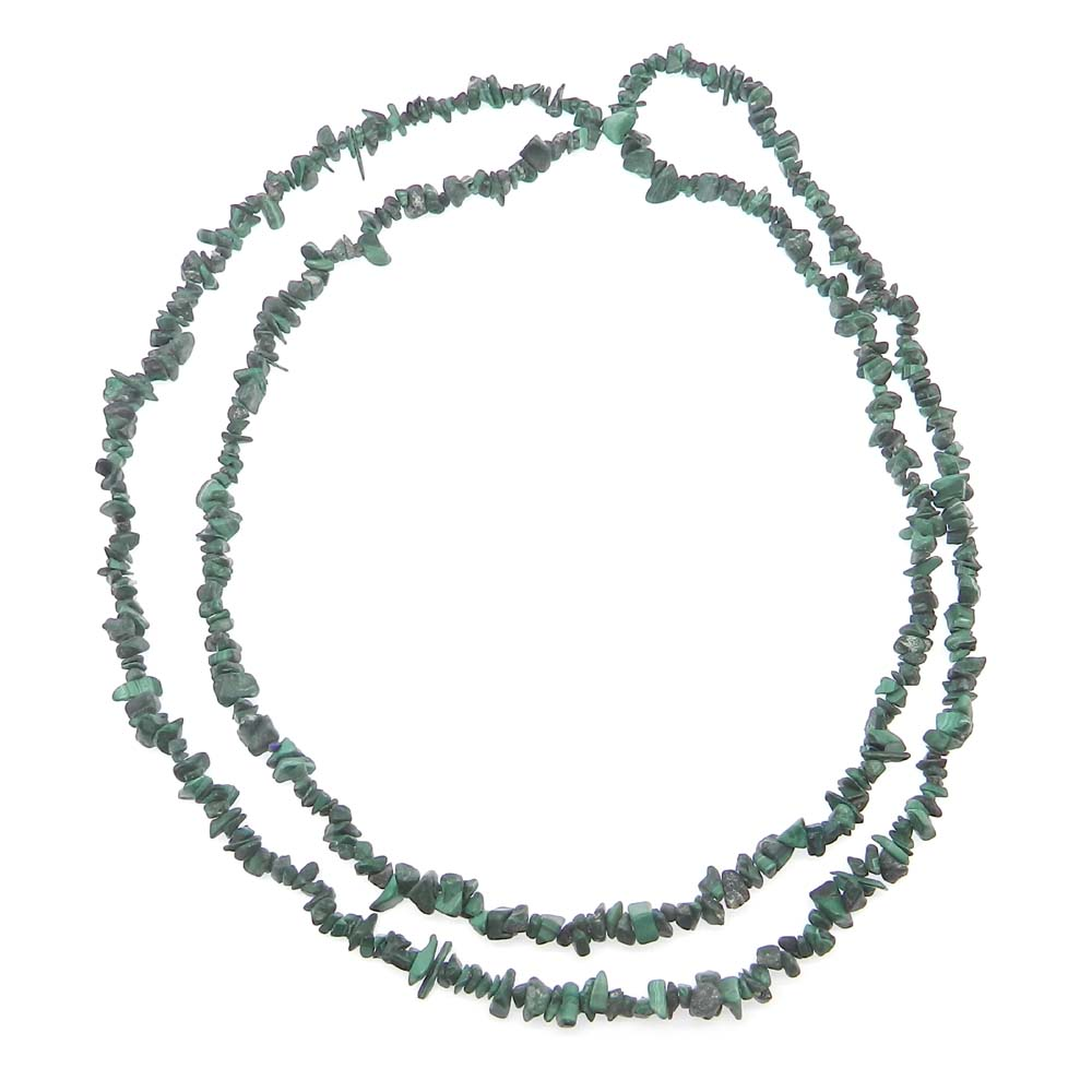 Natural Malachite 4-5mm Approx 36 Inch Length Chips Strand Beads