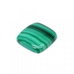 Natural Malachite Cushion Cabochon 55.65 Cts 24x24mm Loose Gemstone