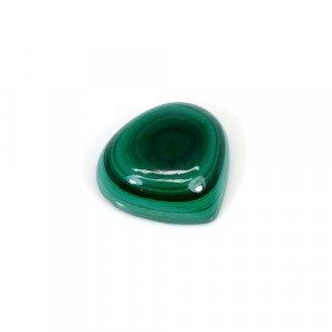 Natural Malachite Pear Cabochon 23.35 Cts 18x17mm Loose Gemstone
