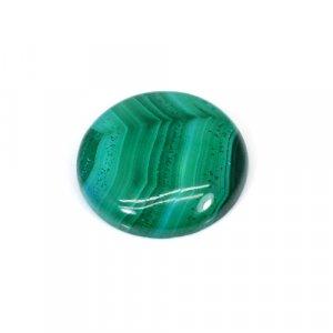 Natural Malachite Round Cabochon 45.50 Cts 26mm Loose Gemstone