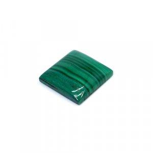 Natural Malachite Square Cabochon 28.45 Cts 18x18mm Loose Gemstone