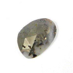 Natural Marcasite Pyrite 18x13mm Fancy Rose Cut 11.30 Cts