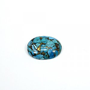 Natural Mohave Blue Copper Turquoise 24x19mm Oval Cabochon 21.50 Cts Loose Gemstone